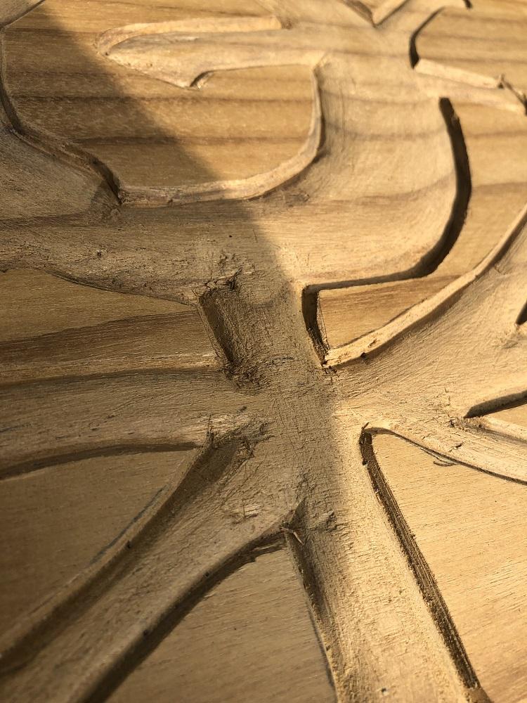 楽猿 木製看板2かまぼこ彫り