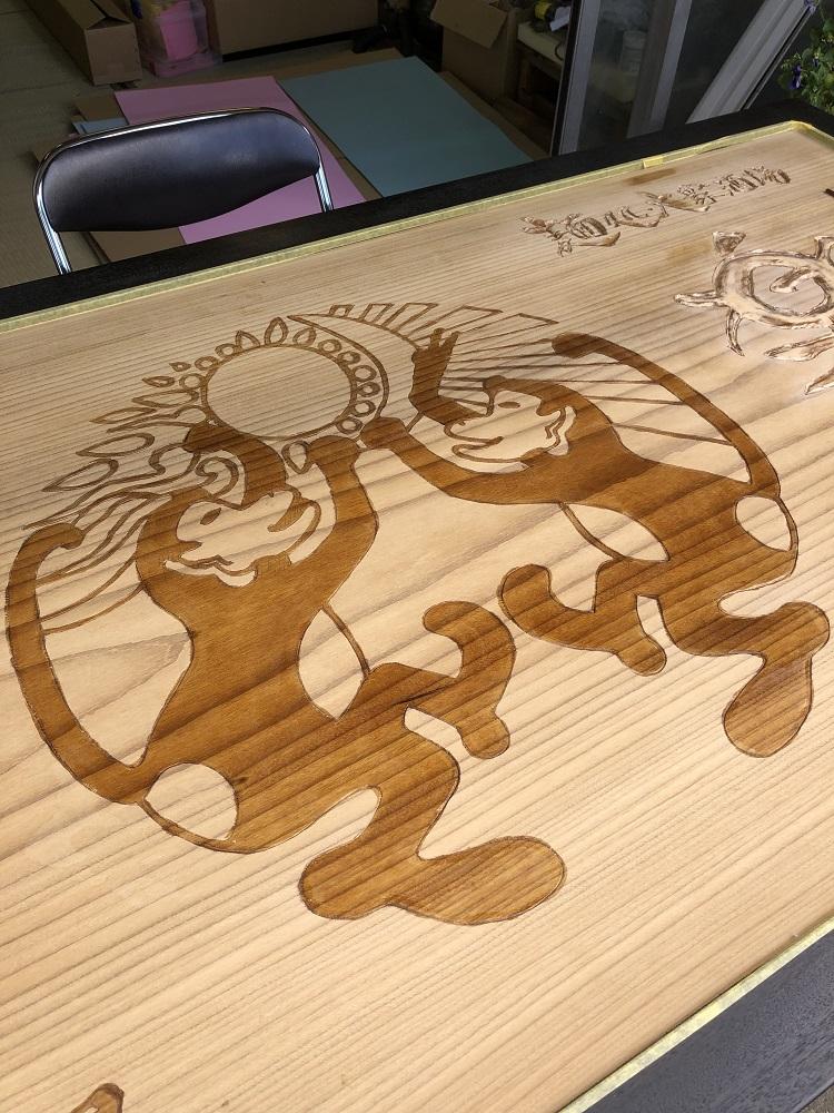 楽猿 木製看板4 クリア入れ