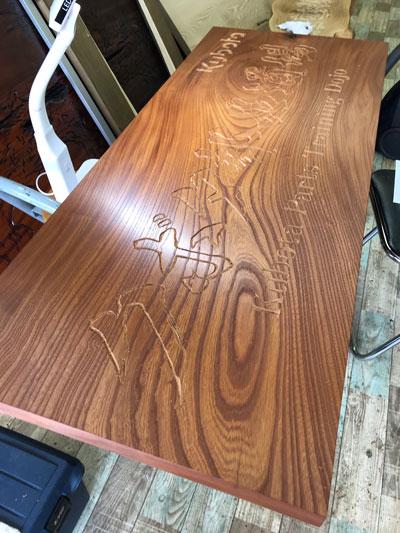 木製看板-クボタ部品道場-5