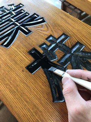木製看板-補修15