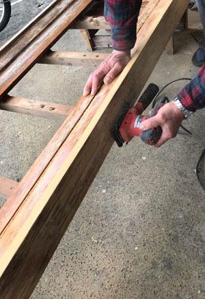 木製看板-補修10